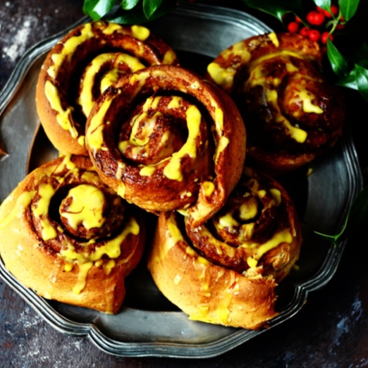 How to make Eggless Saffron Clementine and Mixed Spice Buns