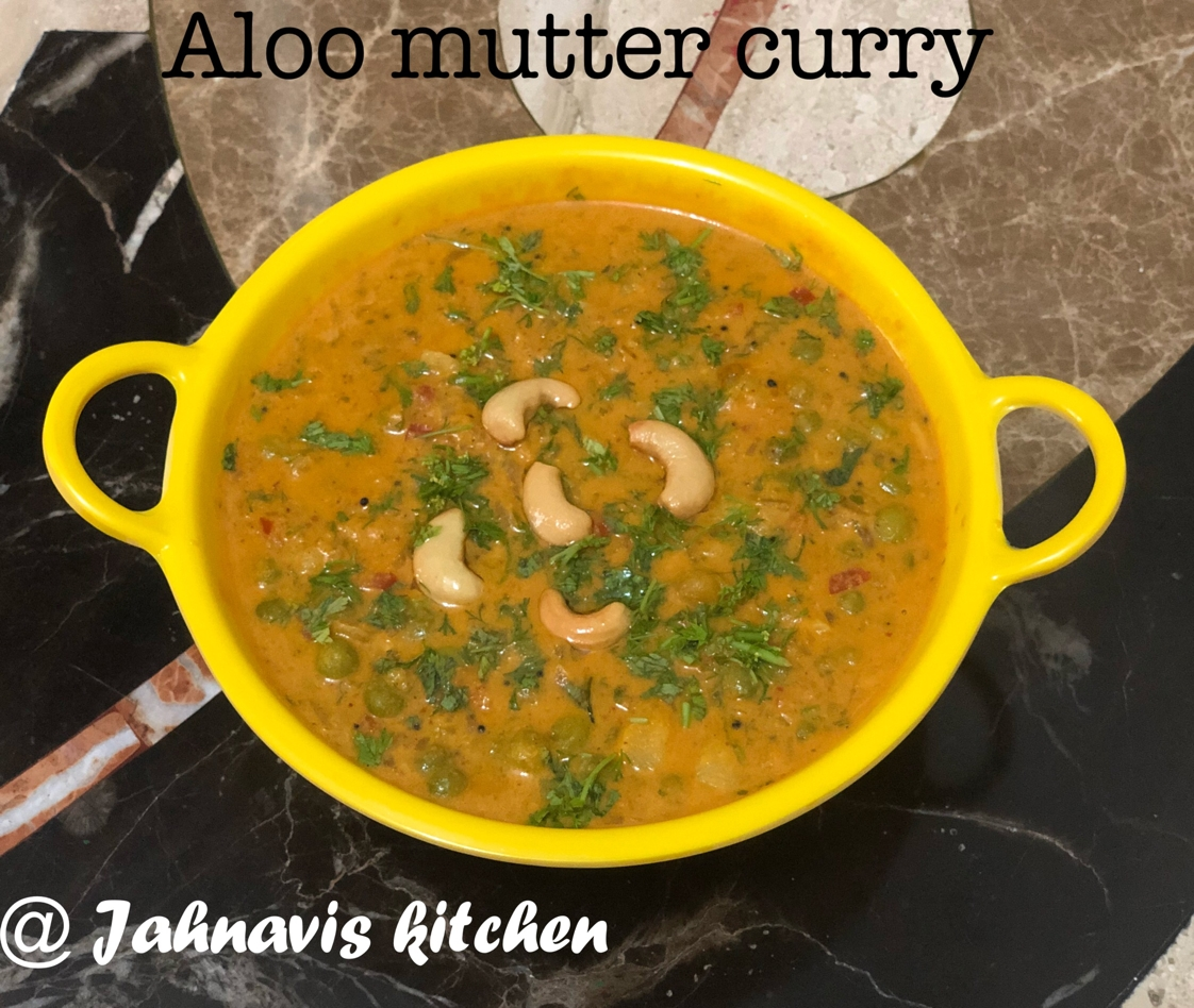 Photo of Aloo mutter curry by Jahnavi Vishwanath at BetterButter