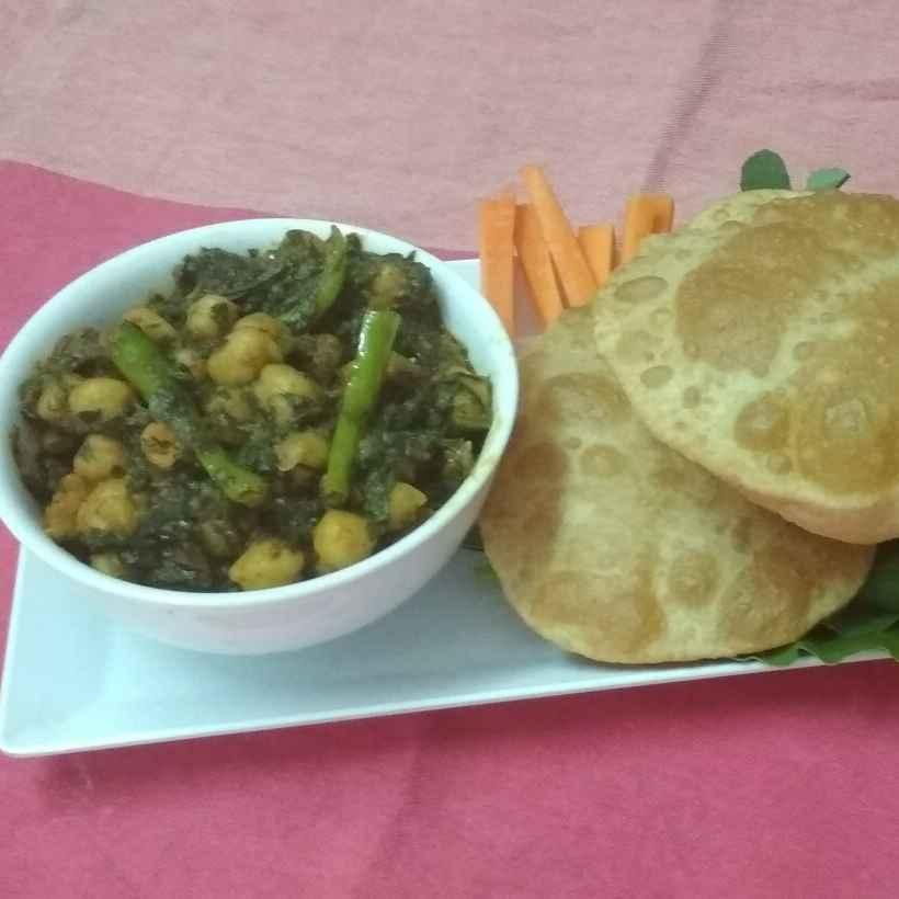 How to make Palak Methi Soya Chole