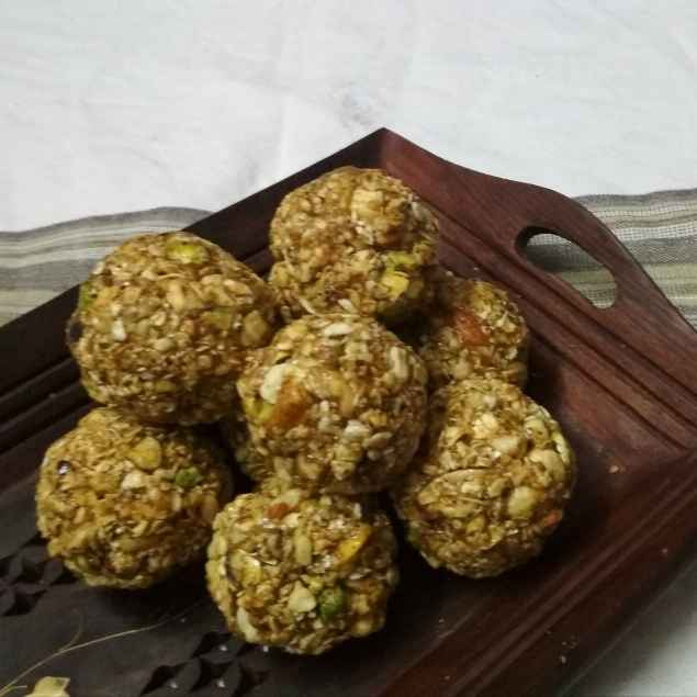 How to make Oats & Dry Fruits Laddu with Jaggery