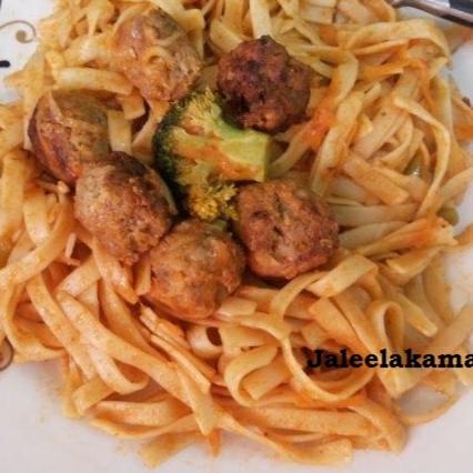 Photo of Meat Ball Fettuccine by Jaleela Kamal at BetterButter