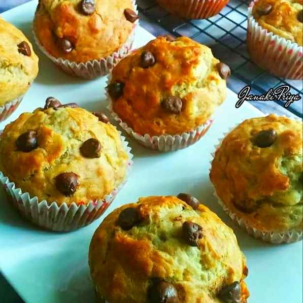 How to make Eggless Banana Oats Muffins