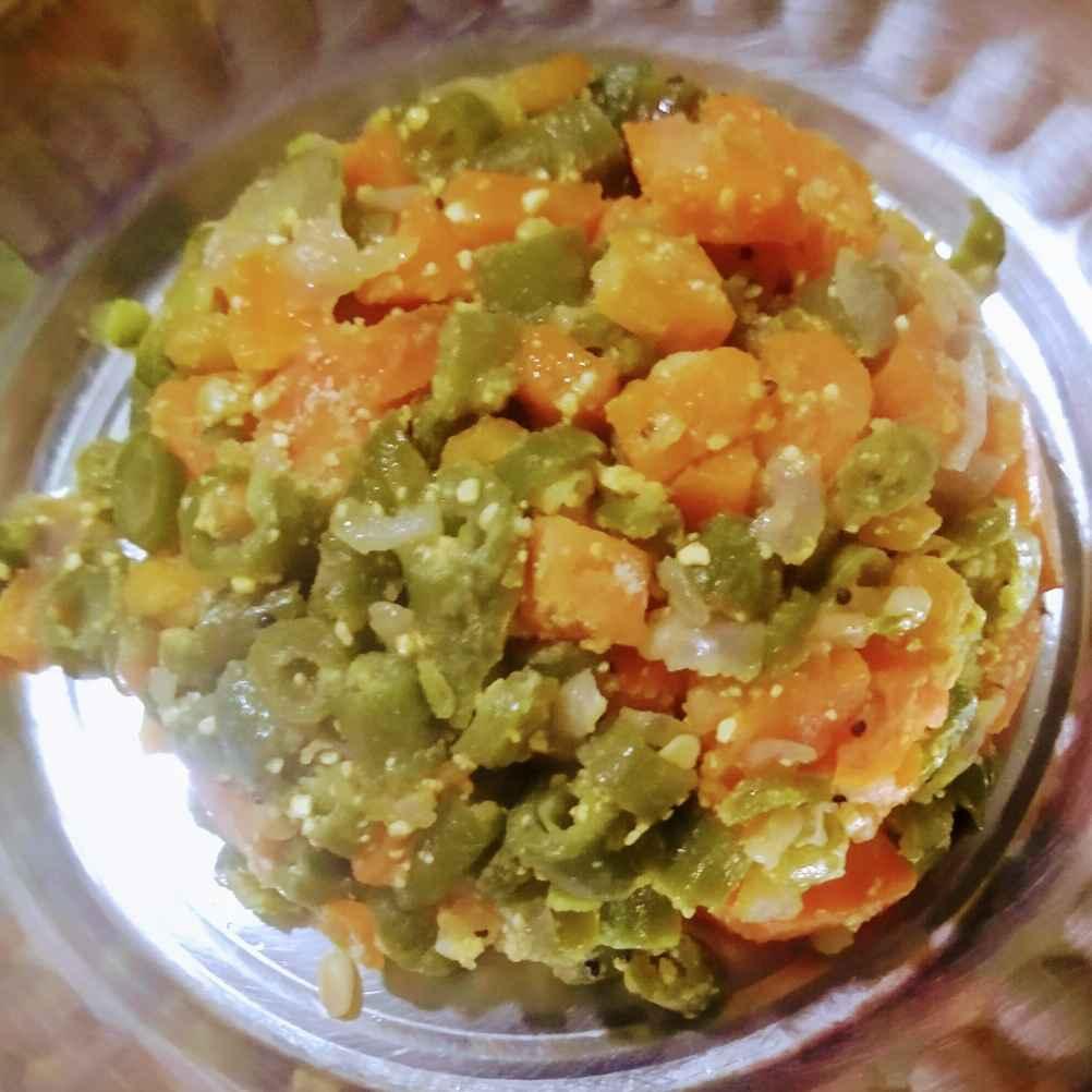 Photo of Carrot beans puttu by Janani Vijayakumar at BetterButter