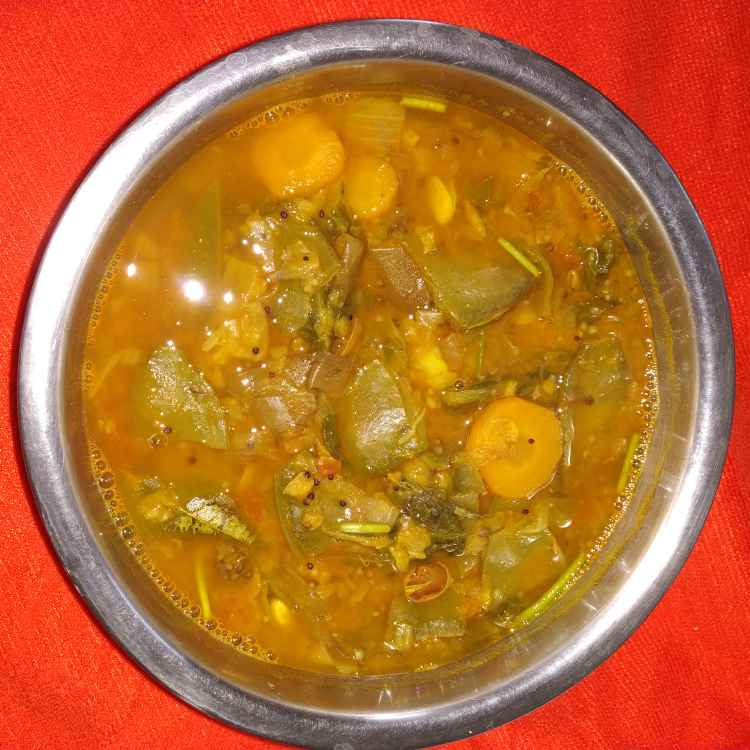 Photo of Spinach and vegetable sambar by jassi aarif at BetterButter