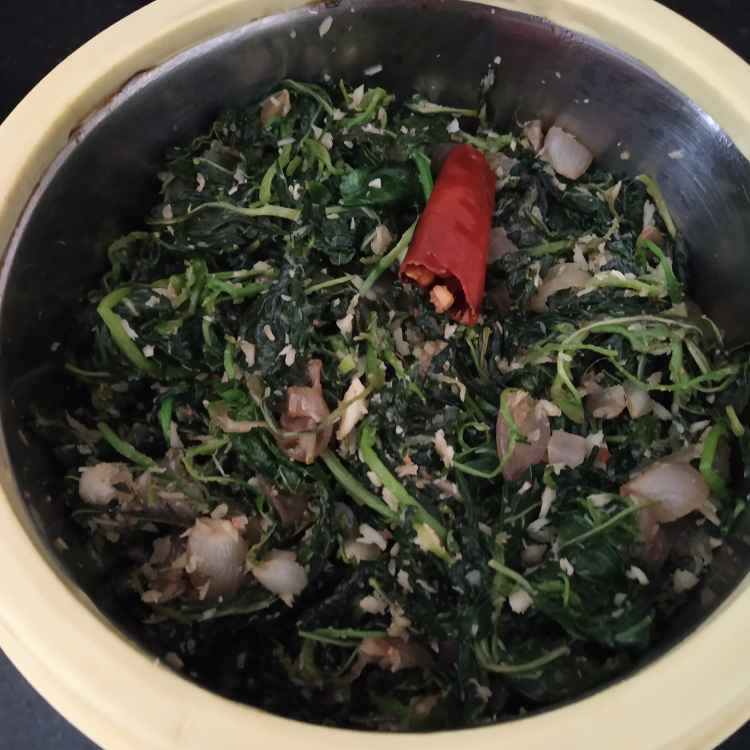 Photo of spinach poriyal by jassi aarif at BetterButter