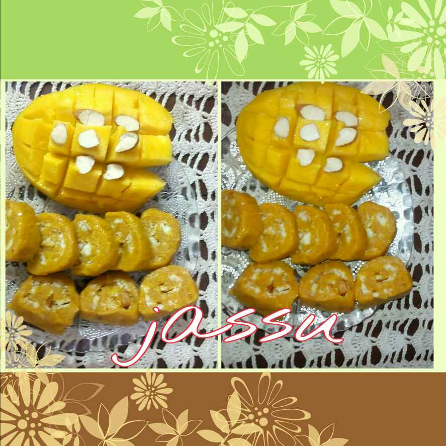 How to make Mango Mawa Rolls