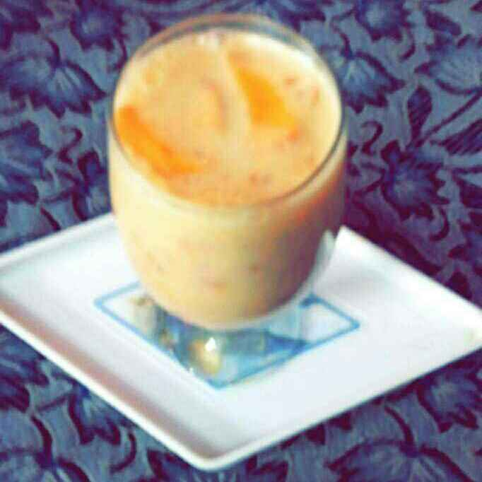 How to make Peach and plum lassi