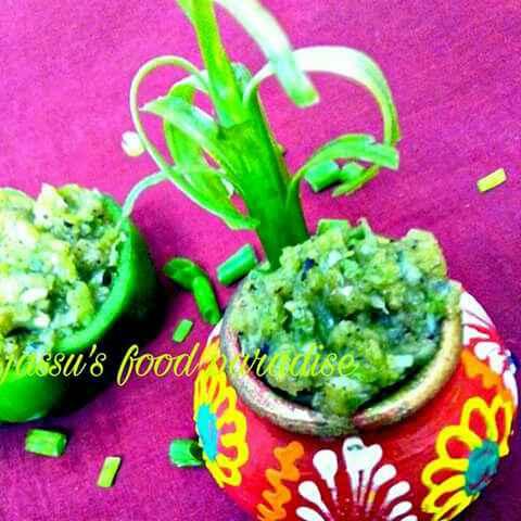 Photo of Capsicum chutney or salsa by Jassu Sehdev at BetterButter