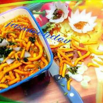 How to make शेव भाजी