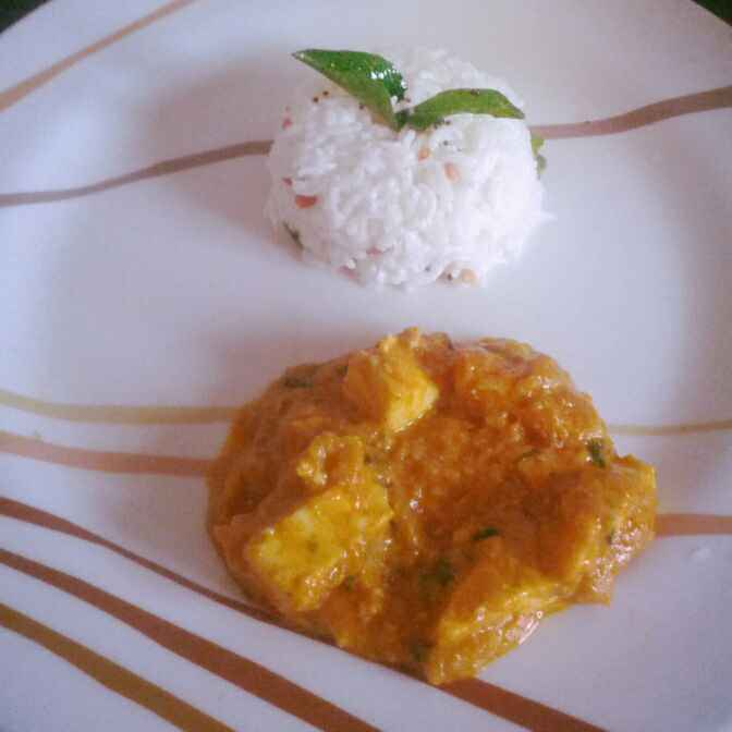 How to make Sambaar flavored Paneer Curry with Curd Rice.