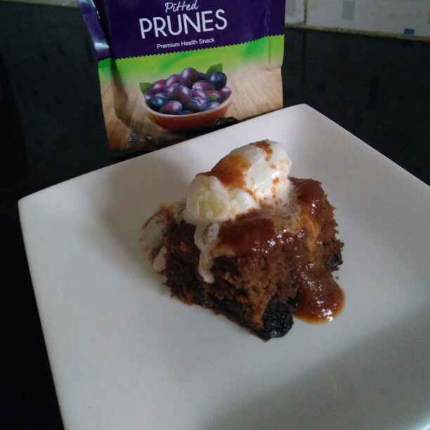 How to make Spiced Prune Pudding with Caramel sauce.