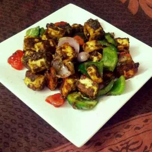 How to make Paneer hariyali tikka