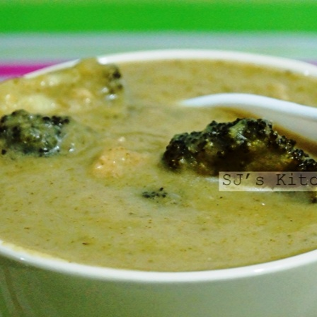 Photo of Broccoli Chicken Soup with Cheddar Cheese by Sanchari Jayanta at BetterButter