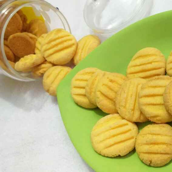 How to make Simple custard cookies (melts in mouth)
