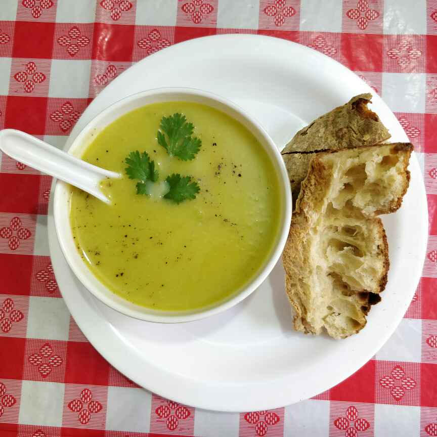 Photo of Healthy Pumpkin Peas Soup. by Jayanthy Asokan at BetterButter