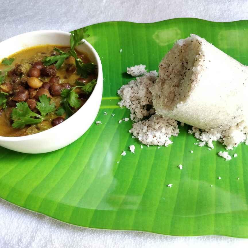 How to make PUTTU AND KADALA CURRY