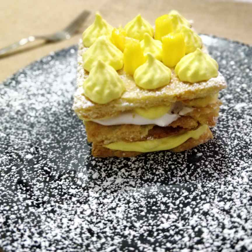 Photo of Fresh Mango Mille Feuille (French Napoleon Pastry) by Jayanthy Asokan at BetterButter
