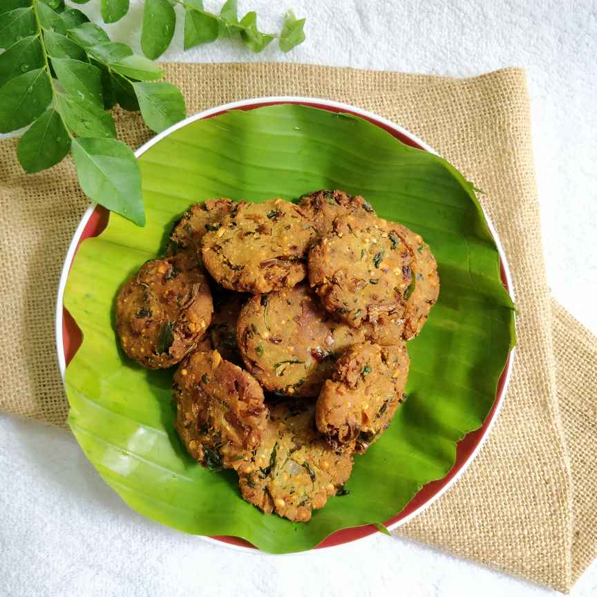 Photo of Mom's Special Yam Green's Vada. by Jayanthy Asokan at BetterButter