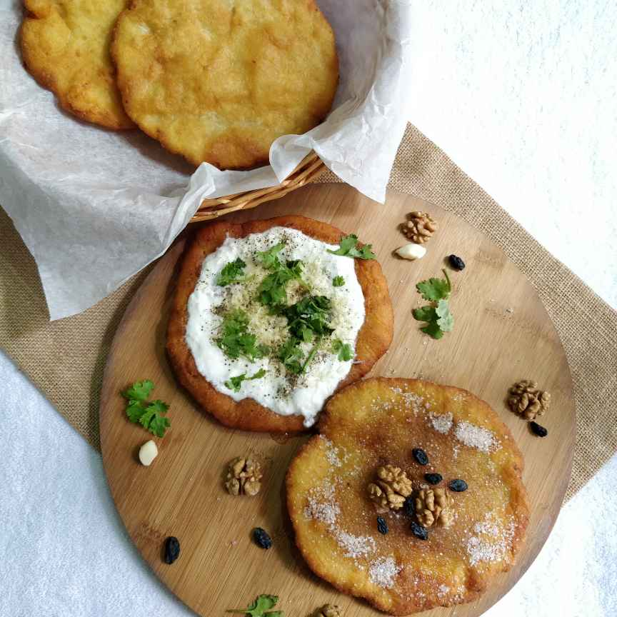 Photo of Langos ( Hungarian Fried Bread) by Jayanthy Asokan at BetterButter