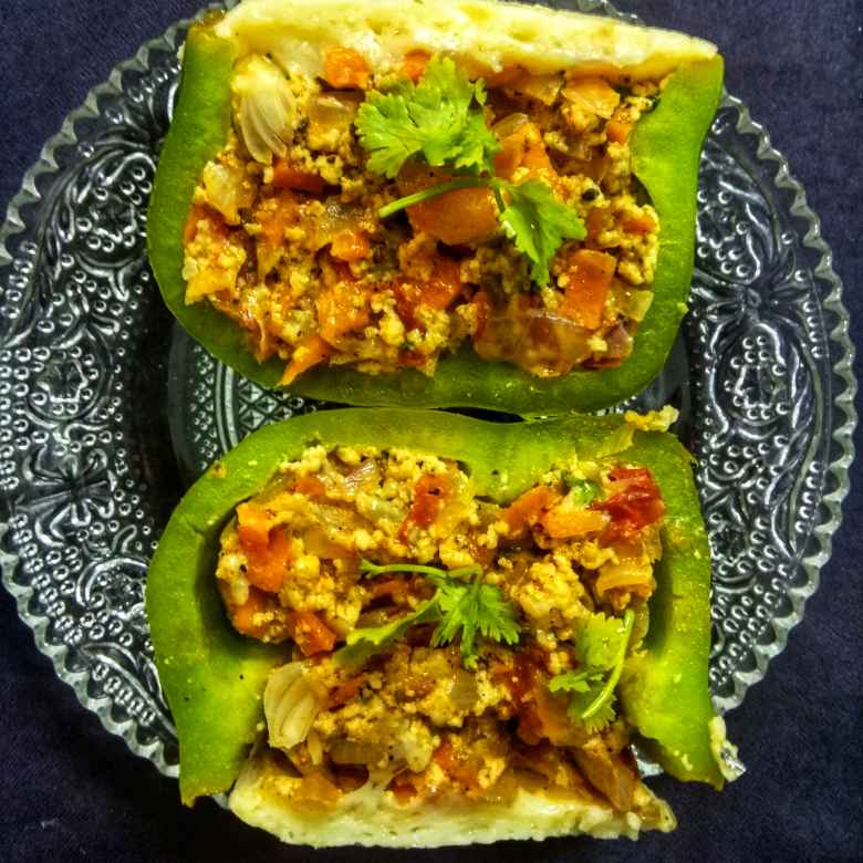 Photo of Paneer stuffed Capsicum by Jayasakthi Ekambaram at BetterButter
