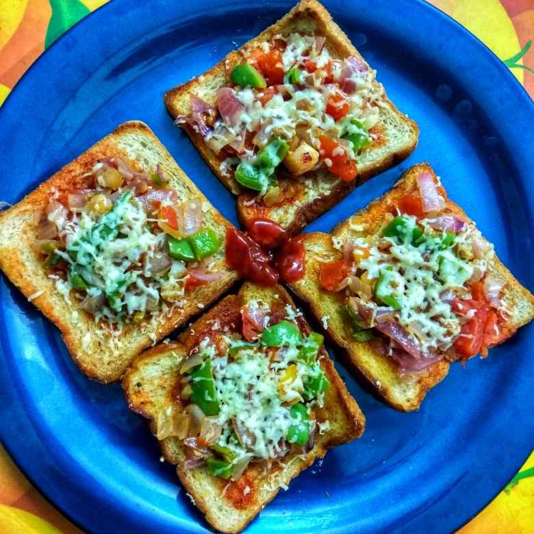 Photo of Whole wheat Bread Pizza by Jayasakthi Ekambaram at BetterButter