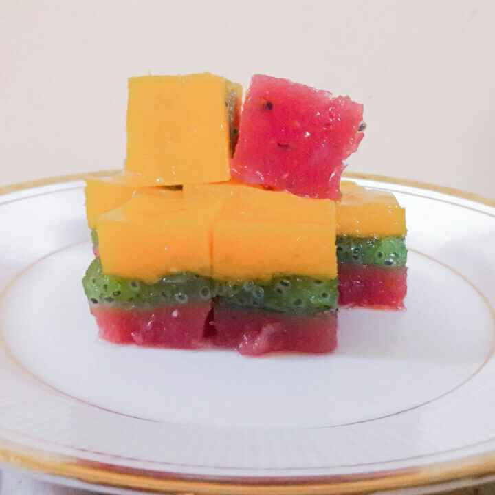 Photo of Tricolour Fruity Jelly by जयश्री भवाळकर at BetterButter
