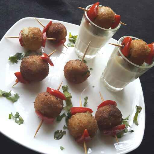How to make Sweet Corn Cheese Balls with Fondue
