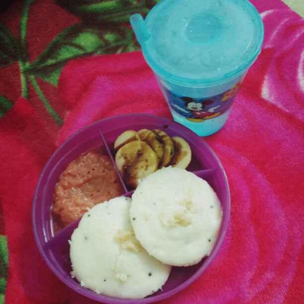 Photo of Thalicha idli with kara chutney plus choc guava by Jeba Jayaseelan at BetterButter