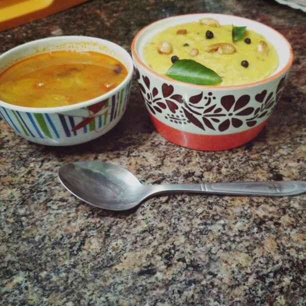 Photo of Oats pongal with raddish sambar by Jeba Jayaseelan at BetterButter