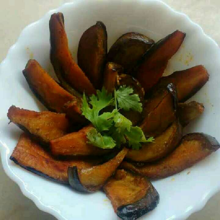 How to make Easy Brinjal fry for brinjal lovers