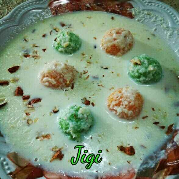 Photo of Kheer with rice & comments laddu by Jigisha Jayshree at BetterButter
