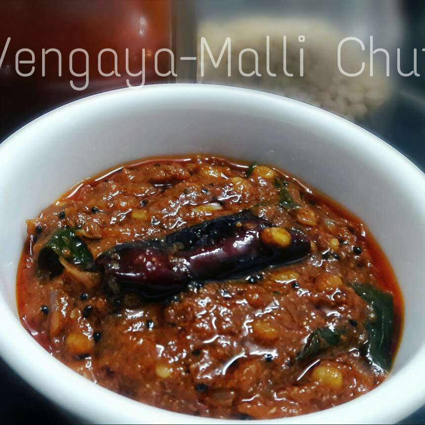 How to make Vengaya Malli Chutney