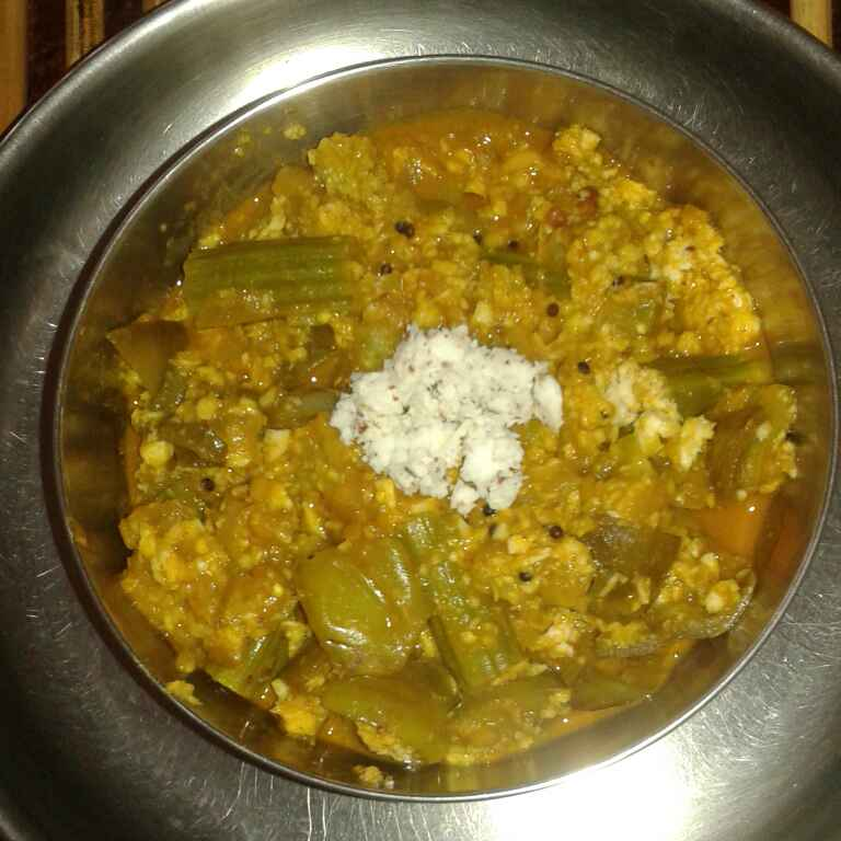 Photo of Brinjal Drumstick Raw banana kootu with Coconut by jothi durai at BetterButter