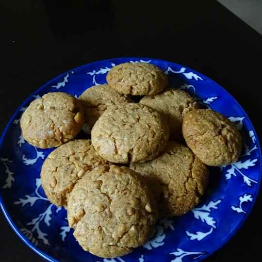 Photo of Peanut butter-oats cookies by Juhi Raghav Khanka at BetterButter