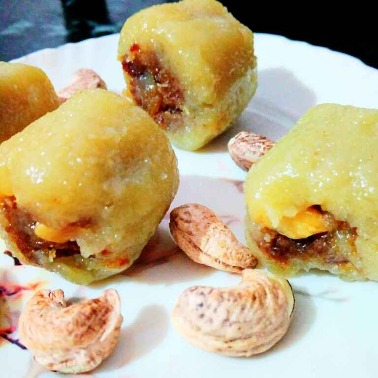 Photo of Kaju and dates roll by Juthika Ray at BetterButter