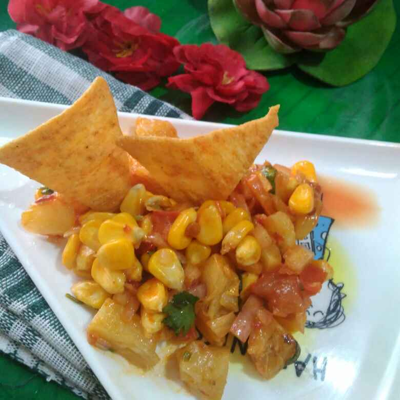 Photo of Grilled pineapple and corn salad by Juthika Ray at BetterButter