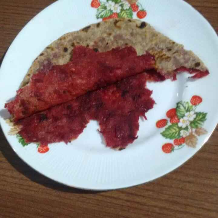 Photo of Beetroot er paratha by Juthika Ray at BetterButter