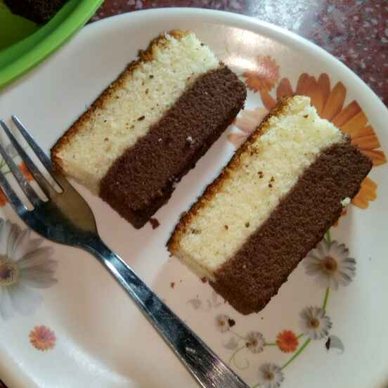 How to make Vanilla and Chocolate wonder cake