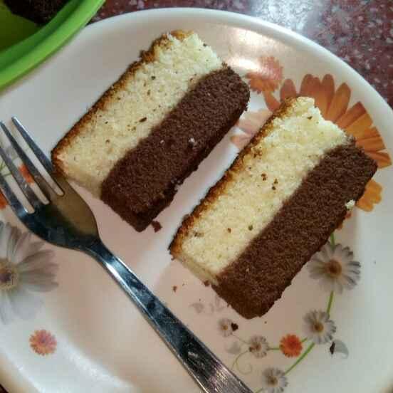 How to make Vanilla and Chocolate wonder cake