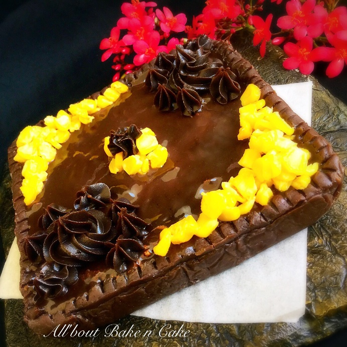 How to make Sweet Corn Chocolate Tart (No Bake)