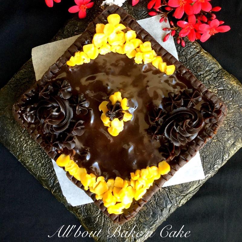 How to make Sweet Corn Chocolate Tart (No Bake)