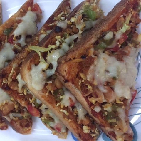 Photo of Veggies bread pizza with a twist by Jyoti Bhalla Ahuja at BetterButter
