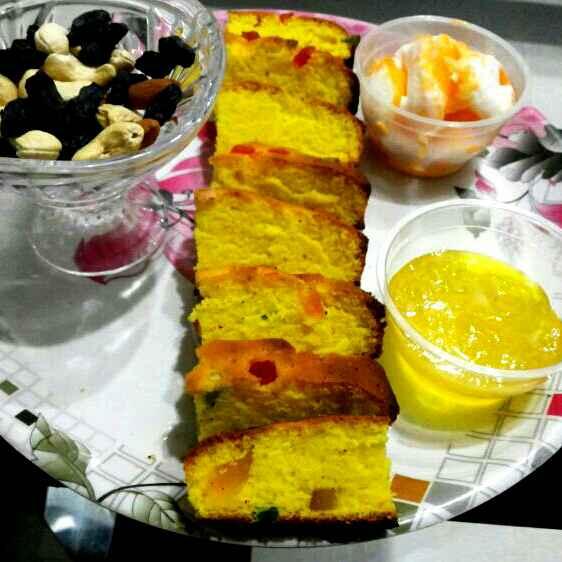How to make Tutti frutti Pineapple Slice cake