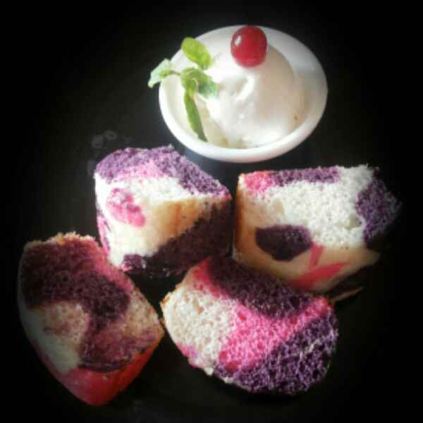 How to make Colourful Marble Cake