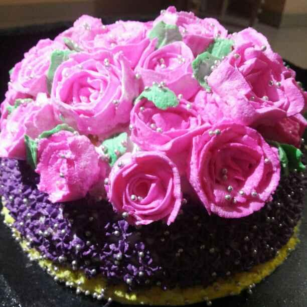 How to make Annivesary Rose Cake
