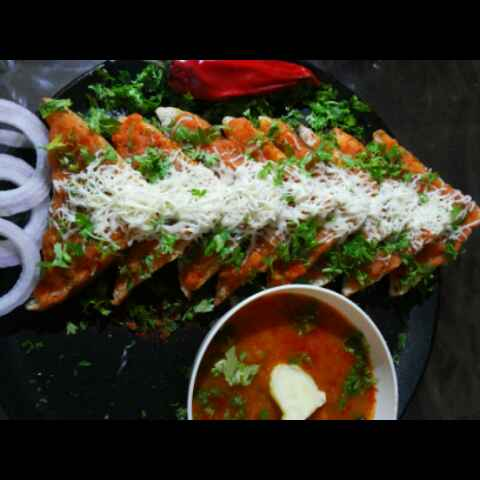 Photo of Pavbhaji open Sandvich by JYOTI BHAGAT PARASIYA at BetterButter