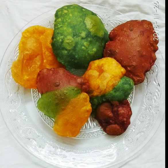 Photo of Colorful luchi by Kaberi Bhattacharya at BetterButter