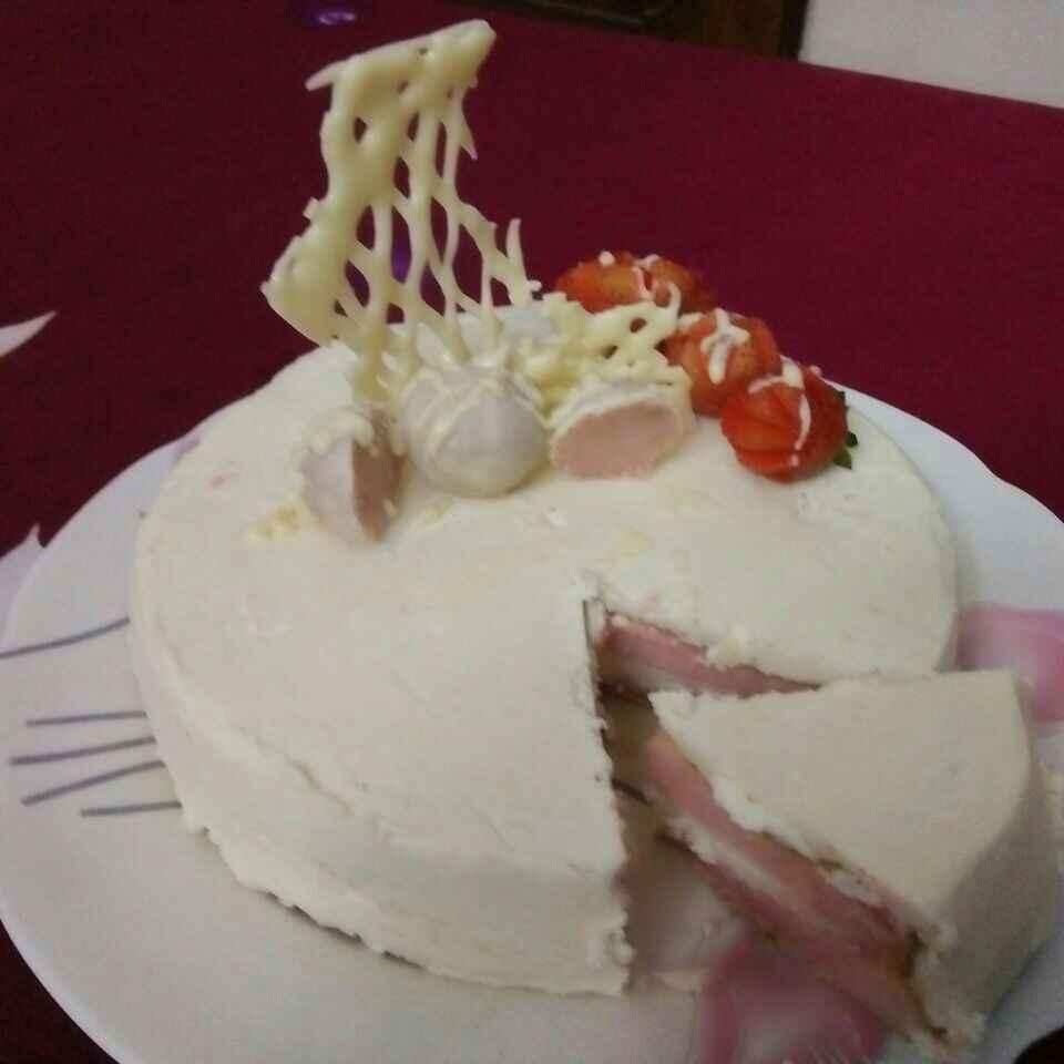 How to make Chiffon cake with white chocolate ganache