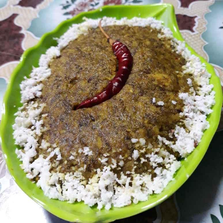 How to make নারকেল কচু-শাক্