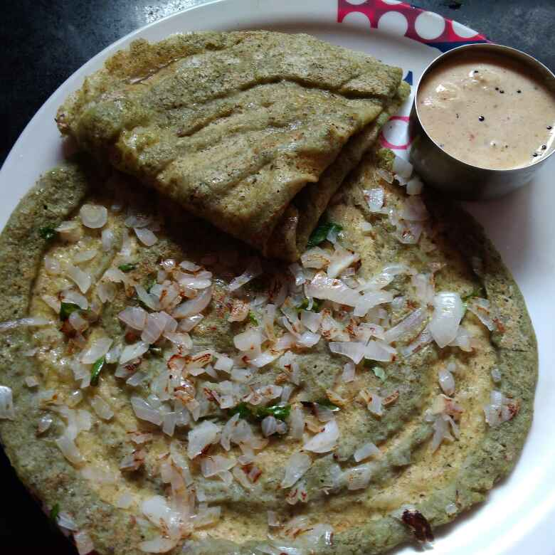 How to make Green dhall dosa